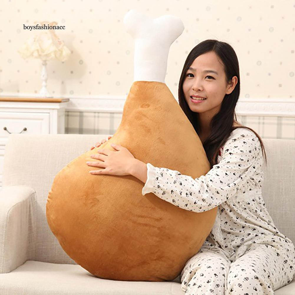 BOYS Simulation 3D Chicken Leg Plush Toy Stuffed Soft Pillow Cushion Kids Girl Gift