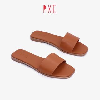 Dép Nữ Mũi Vuông Bản Ngang Pixie X447