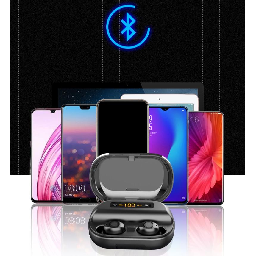Tai nghe AMOI V11 phiên bản quốc tế cảm ứng Bluetooth 5.0 Pin 380 giờ chống nước