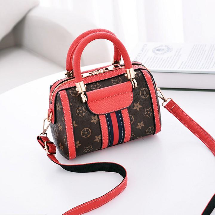 Túi da cỡ mini phối họa tiết thời trang sành điệu - TUINU19.0008 - Túi xách nữ Túi xách nữ