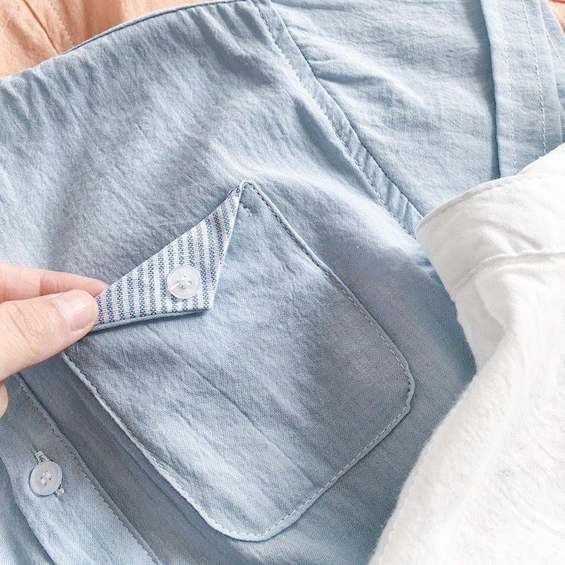 Áo Sơ Mi Chất Liệu Vải Đũi Cao Cấp Cho Bé Từ 5Kg Đến 28Kg NaNa Store