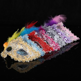 (P04) mặt nạ hóa trang lông vũ-w06 rẻ bèo nè bỏ sỉ