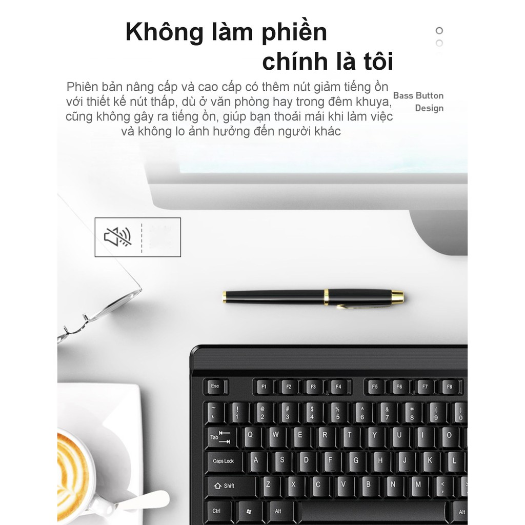 Bàn phím Inphic V580 dùng cho chơi game Máy tính để bàn Máy tính gia đình Cảm giác cơ học Không thấm nước - Chính Hãng