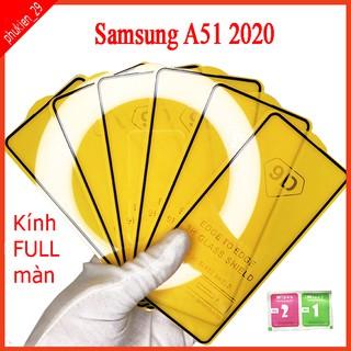 Kính cường lực Samsung A51 2020 full màn hình, Ảnh thực shop tự chụp, tặng kèm bộ giấy lau kính taiyoshop2 thumbnail