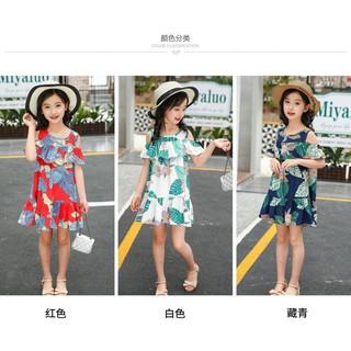 Váy hoa đi biển bé gái size 15-30kg