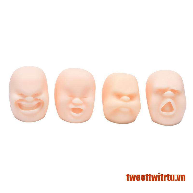 【TrTu】1PC Squeeze Human Face Emotion Vent Ball Stress Relieve Adult Decompress
