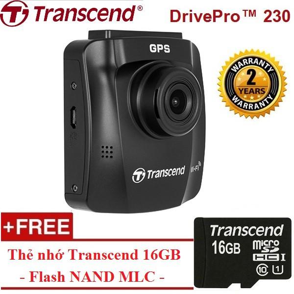 [NHẬP MÃ TAVACAMR- GIẢM NGAY 100K] Camera hành trình TRANSCEND DrivePro™ 230 - Tặng thẻ nhớ thẻ nhớ
