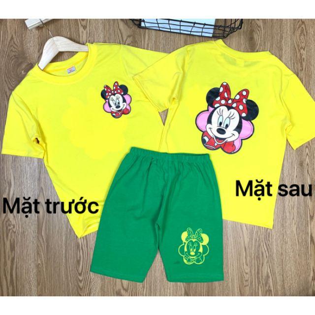 (20-38kg)BỘ LỬNG COTTON 4C BÉ GÁI- Quần áo trẻ em