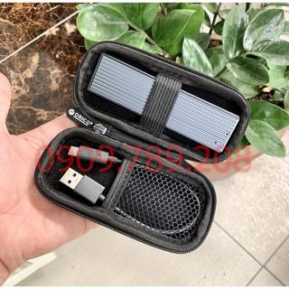 [COMBO] Box M2 SSD + TÚI CHỐNG SỐC M2 ORICO M2PF Type C USB 3.1 Tản Nhiệt Nhôm