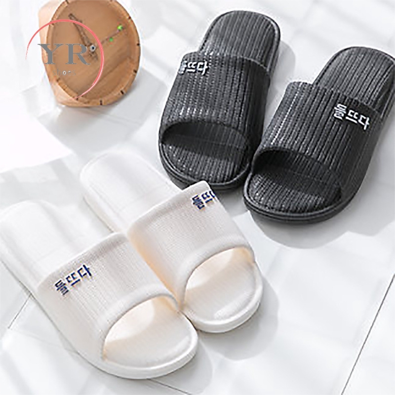 [Ready Stock] YR Couple Rubber Casual Slippers Indoor Comfortable Non Slip Slippers in 6 Colors