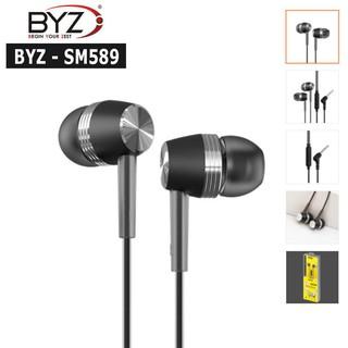 [Mã ELFLASH5 giảm 20K đơn 50K] Tai nghe cho các loại điện thoại Smartphone chân 3.5mm BYZ SM589, có mic nghe điện thoại
