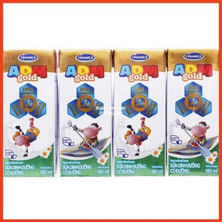 1 Lốc 4 Hộp Sữa Tươi ADM Vinamilk Hộp 110ml/180ml