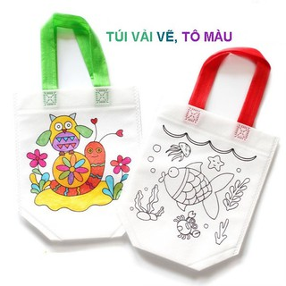 Túi xách tô màu vẽ bằng vải dệt cho bé đồ chơi Simbaba cho trẻ em 3-5 tuổi tập tô màu sáng tạo 2