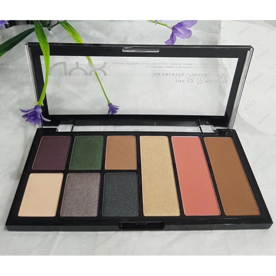 PHẤN MẮT NYX 9 MÀU THE GO TO PALETTE INDISPENSABLE