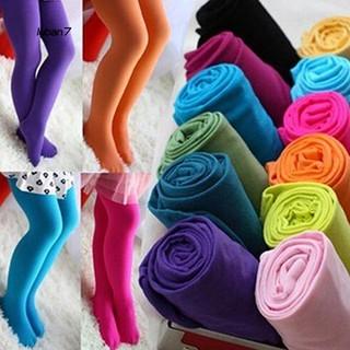 Quần tất chân nhiều màu bằng vải nhung mềm co giãn cho bé gái thumbnail