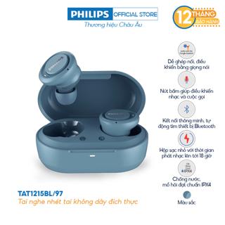 Tai nghe Bluetooth Philips TAT1215BL/97 - Màu xanh