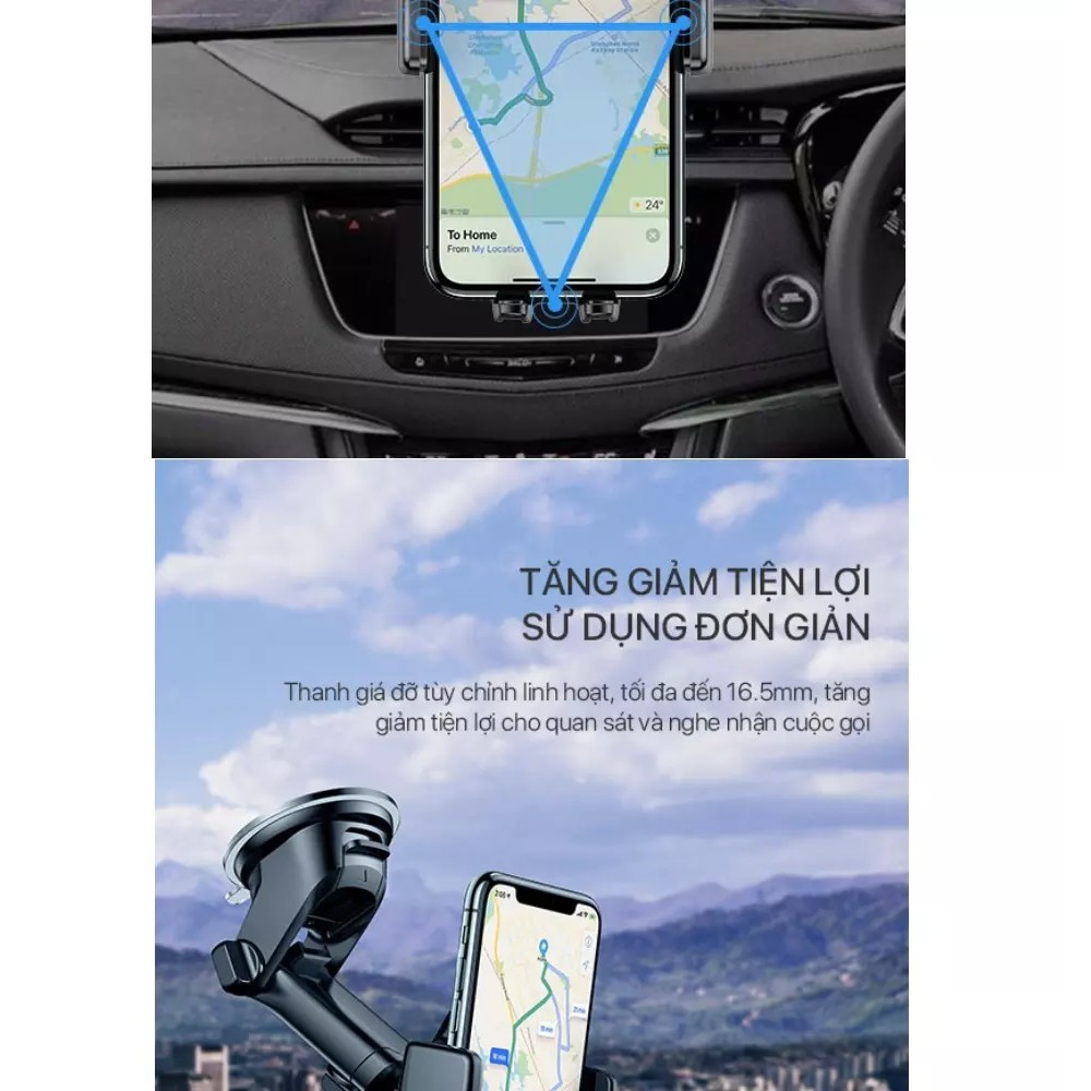 giá để điện thoại trên ô tô,Giá đỡ điện thoại trên Oto (hộp Xanh) (K001)