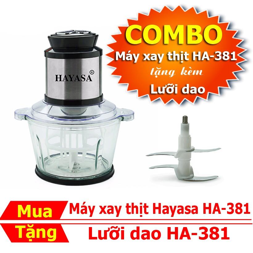 [COMBO] Máy xay thịt, đánh trứng đa năng dòng Cao Cấp Hayasa HA-381 kèm lưỡi dao - [nhập mã GIAD168