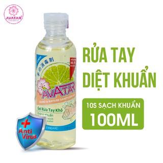 Gel rửa tay khô hương chanh AVATAR - HƯƠNG CHANH (100ml) thumbnail