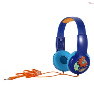 NEW KID101 Wired Headset Kids On Ear Headphones with 3.5mm Audio Jack & Volume Portable Cute Children Learning Headphone Compatible with Cellphones Computer MP3/4 Pad Tablet