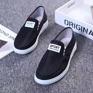 Giày lười vải nam Sport 2 Màu thoáng khí đơn giản phù hợp mọi nơi