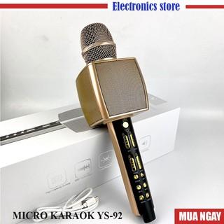 Micro Karaoke Bluetooth YS92  Dùng Livetream Vùa Hát Như Micro Loa Rời Bình Thường - BASS SIÊU TO
