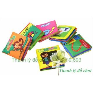 Sách vải nhiều chủ đề tiếng anh cho bé học nhận thức – Đồ chơi cho bé sơ sinh