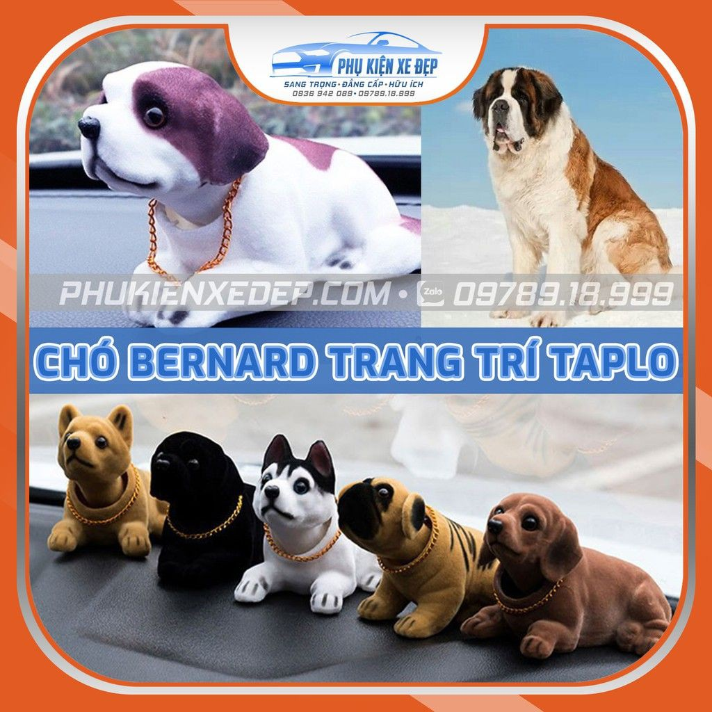 Chó lắc lư, chó gật gù lúc lắc Bernard, Trang trí đồ chơi