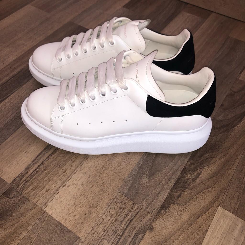 [Full Box+Bill+Có Sẵn]Giày thể thao,sneakers nam nữ M.C.Q trắng gót đen+Tặng lọ cọ rửa giày