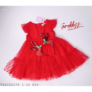 Đầm voan bi đỏ