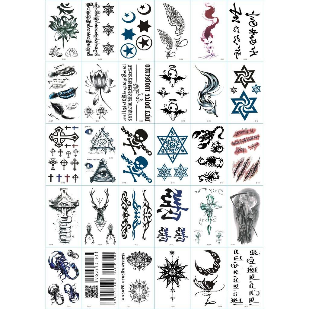 [CÓ SẴN]30 hình  xăm dán tatoo