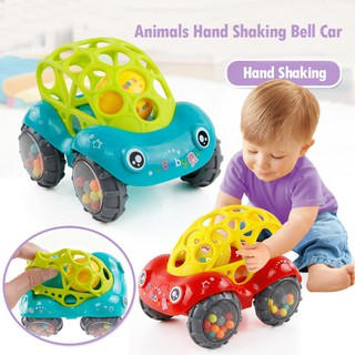 ★Lp★Baby Plastic Non-Toxic Colorful Animals Hand Shaking Bell Car Rattle Toy