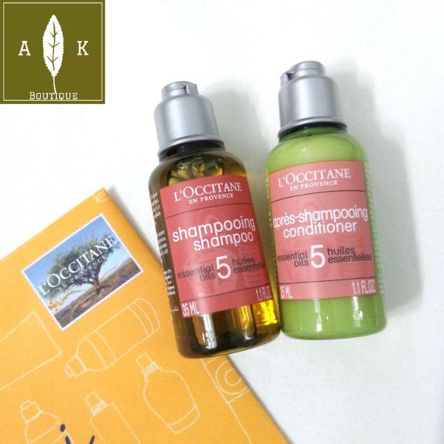 Dầu gội, dầu xả phục hồi tóc khô và hư tổn L'Occitane Aroma Repairing 35ml