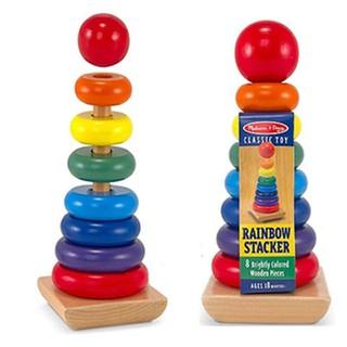 Đồ chơi gỗ – Tháp xếp chồng loại to rainbow