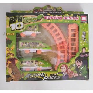 Hộp đồ chơi đường ray xe lửa tàu hỏa Người Nhện chạy pin