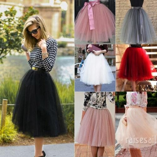 1958163161 - Chân váy vải tuyn 7 lớp dự tiệc
