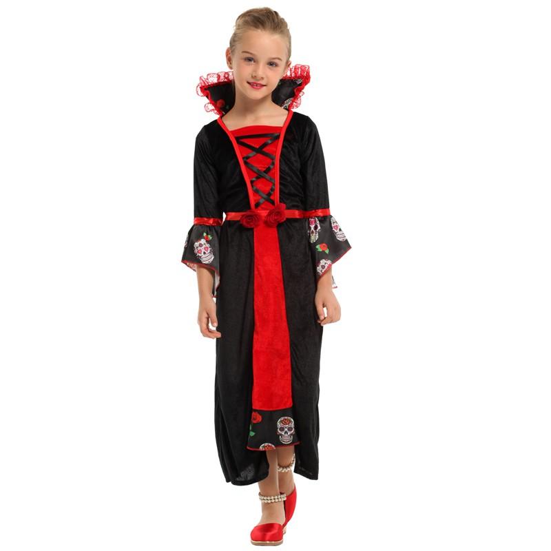【บ้านลาย】Halloween Children's Clothing Kindergarten Girls Show Clothes Cos Vampire Little