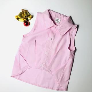 Áo sơ mi bé gái, áo sơ mi cộc tay cho bé gái, quần áo em bé VNXK Made in Vietnam