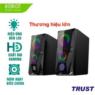 Loa Game Máy Tính ROBOT RS200 Hiệu Ứng Đèn LED - Âm Thanh HD Chất Lượng Cao - BẢO HÀNH 12 THÁNG