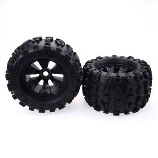 2PCS 1/8 Truck Wheels Tires for Redcat Rovan HPI Savage XL MOUNTED GT FLUX HSP ZD Racing 1/8 Truck