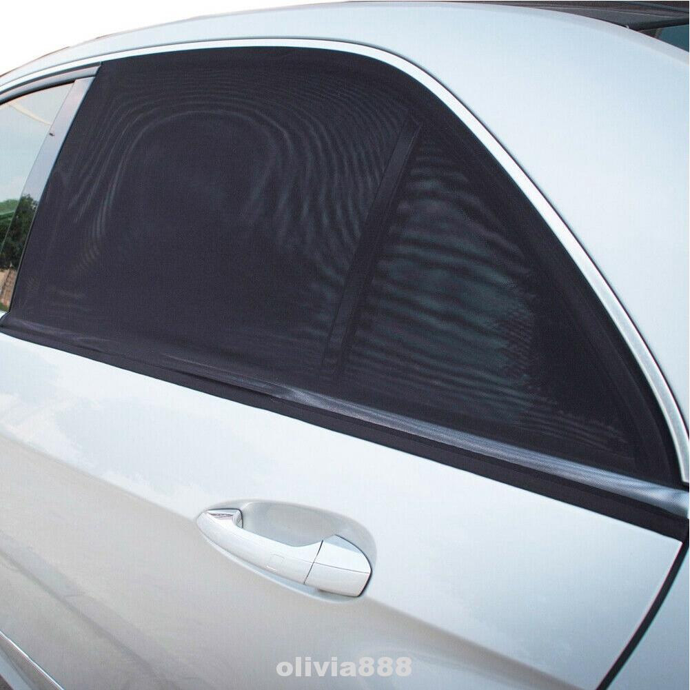 2PCS Accessories Adjustable Folding Side Window UV Protection Portable Car Sun Shade