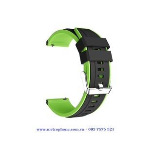 Dây cao su 2 lớp dùng thay thế dây cho đồng hồ Gear S3 Classic Frontier Huawei Watch GT GT 2 Galaxy Watch 46mm thumbnail