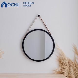[Mã HLSNVV1212 giảm 15% đơn 99K] Gương Tròn Treo Tường Khung Gỗ OCHU - Mirror Circle 60 - Black thumbnail