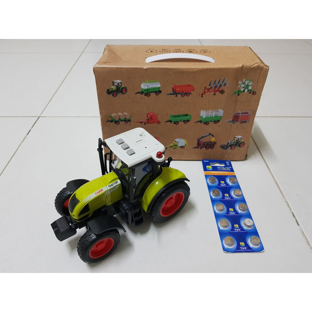 Đồ chơi trẻ em, đồ chơi cho bé, xe máy kéo, xe máy cày, xe nông trại - màu xanh...