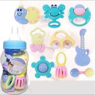 ❤️Bộ Baby Toys Bình Ti Xúc Xắc 9 Món Cho Bé