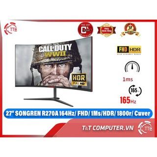 Màn Hình Máy Tính 27 inch cong 165hz gaming newbox 100% hiệu Songren