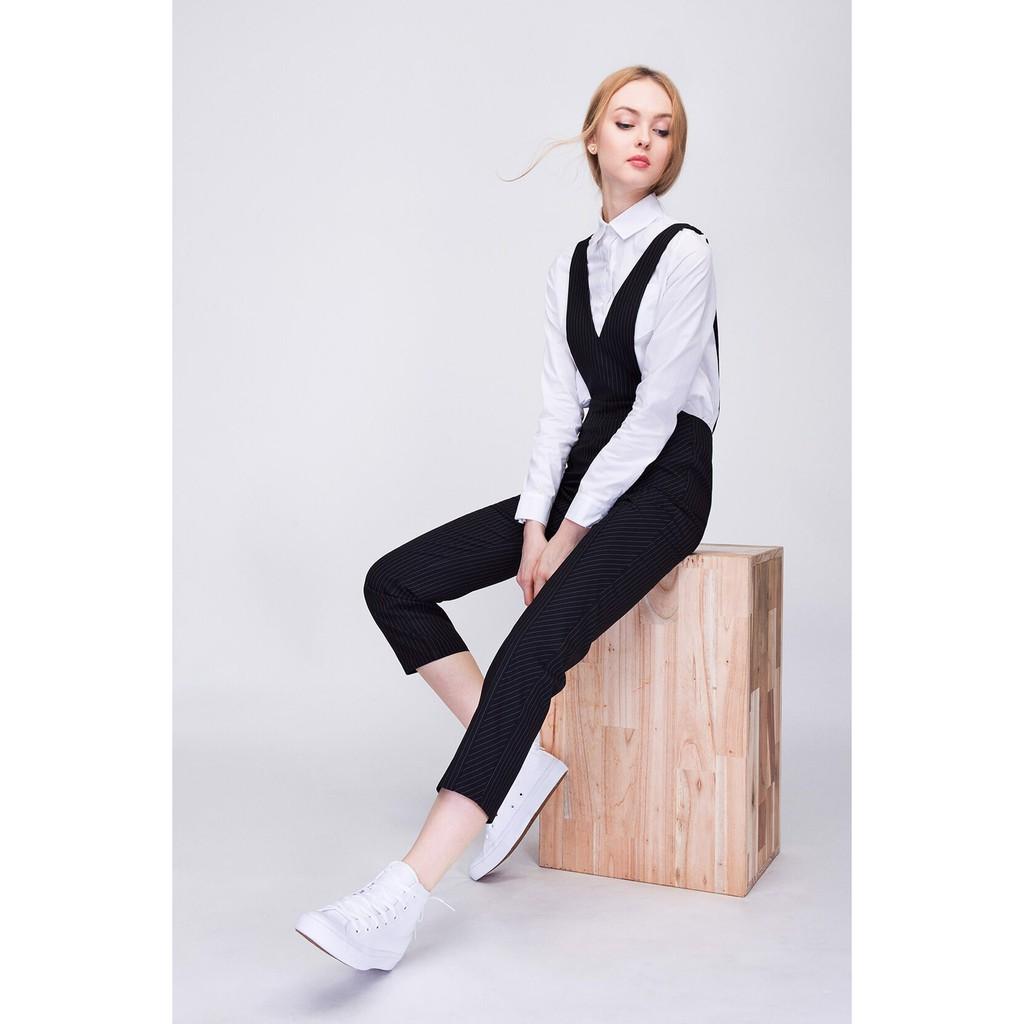 Quần yếm dài (Striped Bib Pants) Can De Blanc