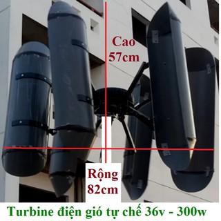 [Mã SRJULY1619 giảm 15K đơn 50K] Bộ điện gió tự chế 12v-24v/300w cánh đứng và phụ kiện bán lẻ