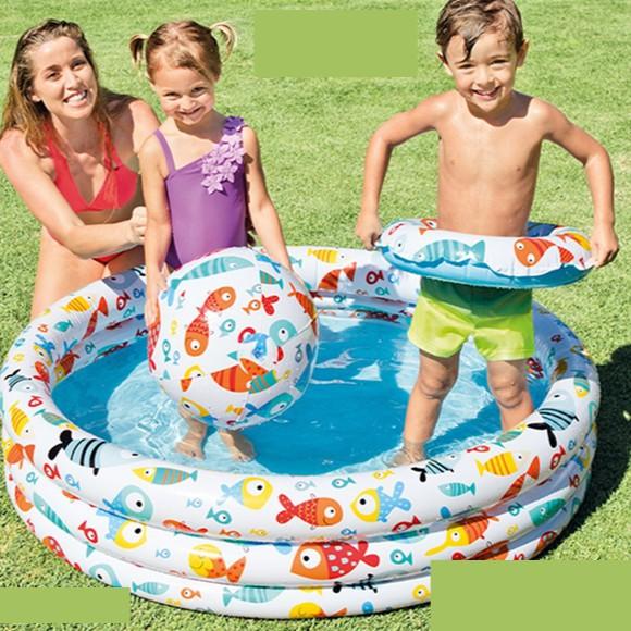 Bộ bể phao bơi tặng kèm bóng và phao