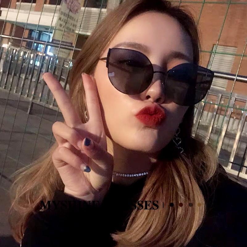asses glasses cat retro retro big-name sunglasses female Korean tide brand vibrato star sunglasses men and women haybo04